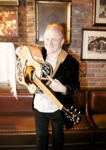 """Peter Asher presented with Buddy Holly guitar at Songmasters & PJ Clarke's """"True Love Ways"""" Event"""