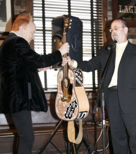 """Peter Asher presented with Buddy Holly guitar at """"True Love Ways"""" Songmasters & PJ Clarke's Event"""