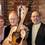 Maria Elena Holly, Peter Asher and John Thomas of the Buddy Holly Guitar Foundation