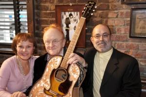 Maria Elena Holly, Peter Asher and John Thomas of the Buddy Holly Guitar Foundation